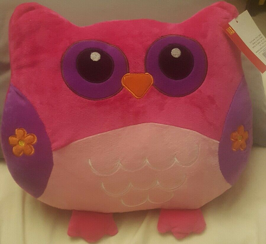 Colorful Adorable Owl Plush Toy Stuffed Animal Baby Pillow Low World
