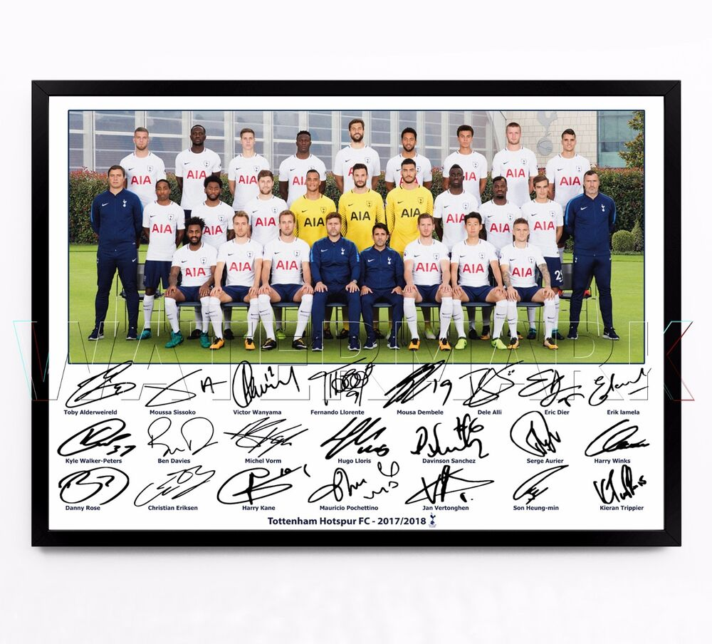Spurs First Team Players Squad: TOTTENHAM HOTSPUR SIGNED PRINT PHOTO POSTER SQUAD 2017