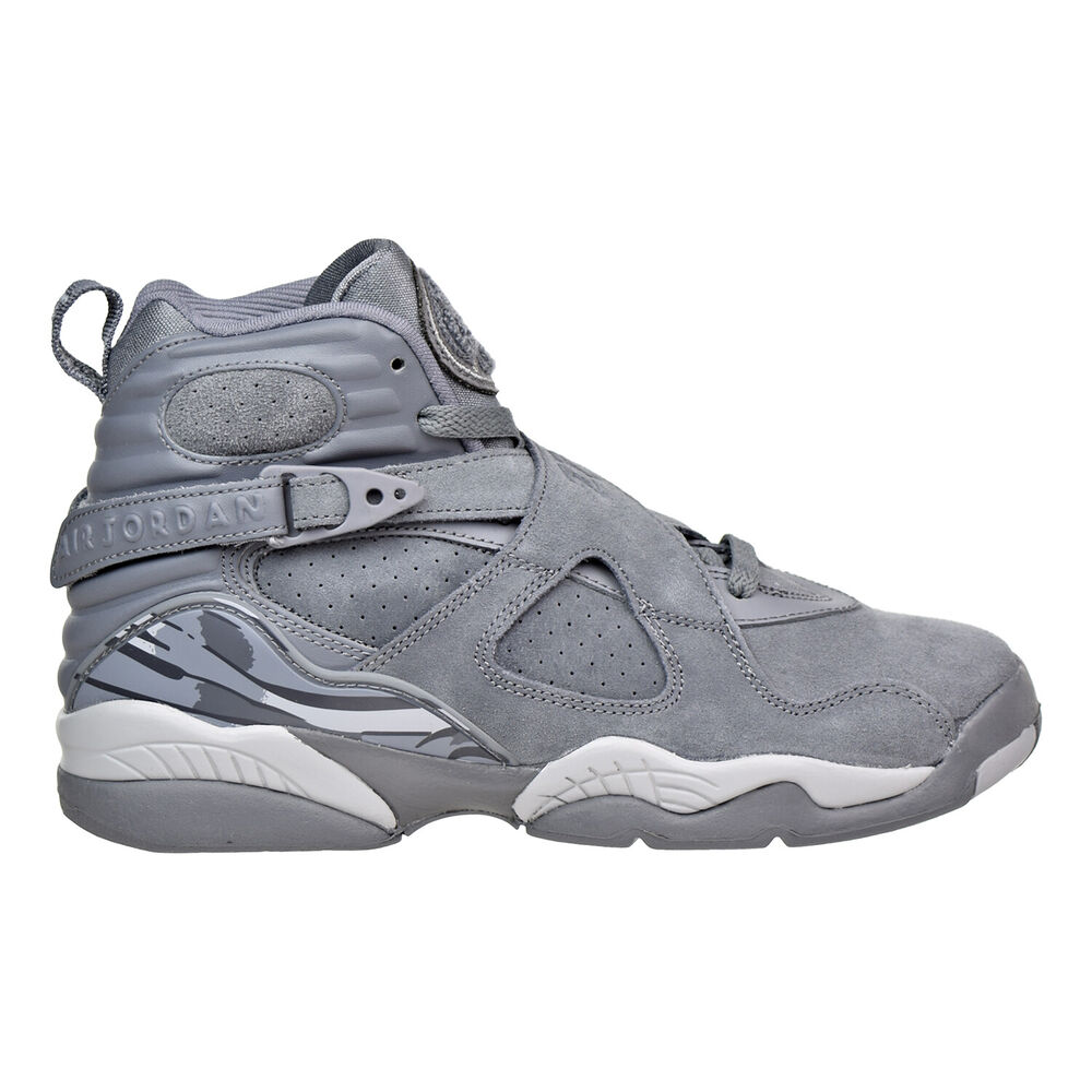 aa492715e7d048 Details about Air Jordan 8 Retro BG Big Kids Shoes Cool Grey Wolf Grey Cool  Grey 305368-014