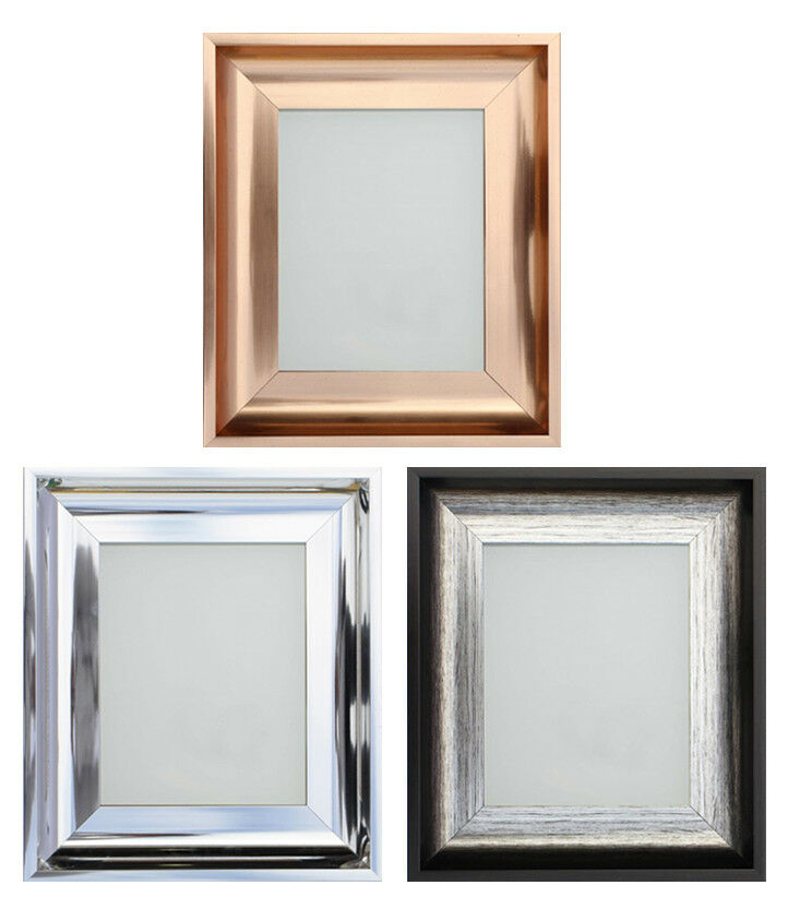 frame company modern shiny rose gold silver or chrome picture frame or mirror ebay. Black Bedroom Furniture Sets. Home Design Ideas