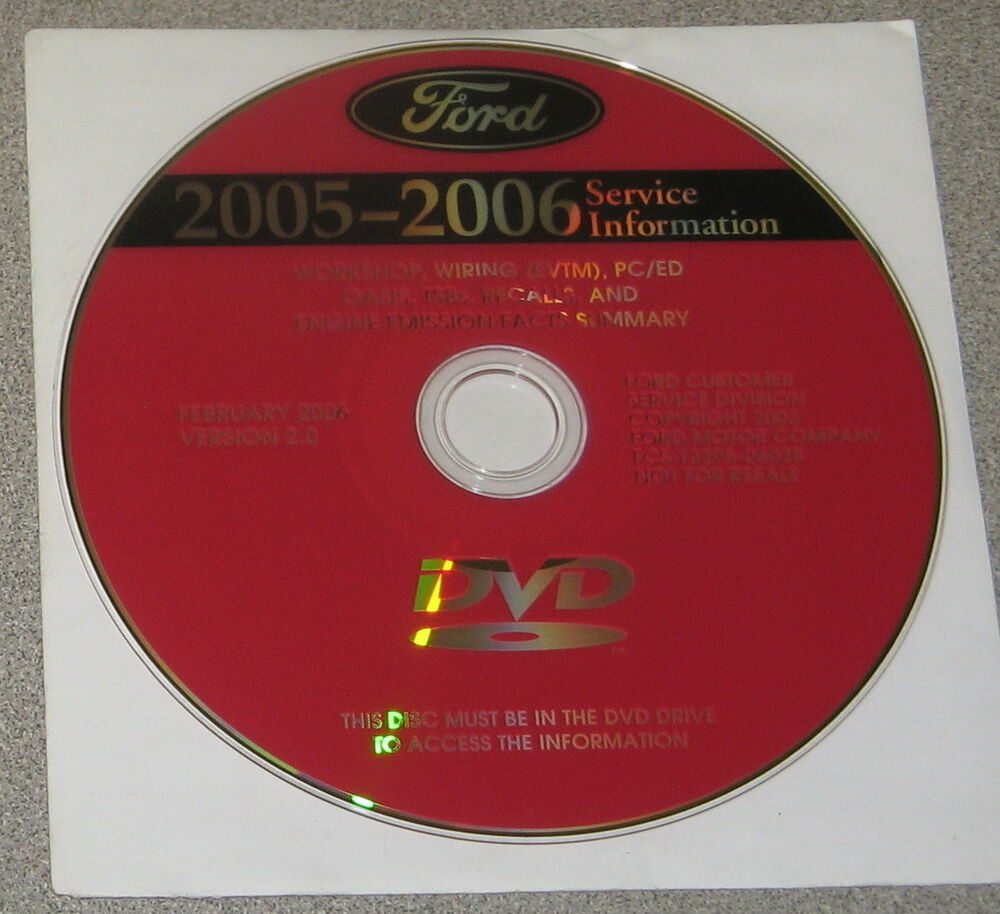 2005 2006 Ford Crown Victoria Mercury Grand Marquis Service Manual Set Dvd