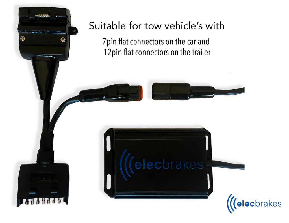 Portable Bluetooth Electric Brake Controller With 7