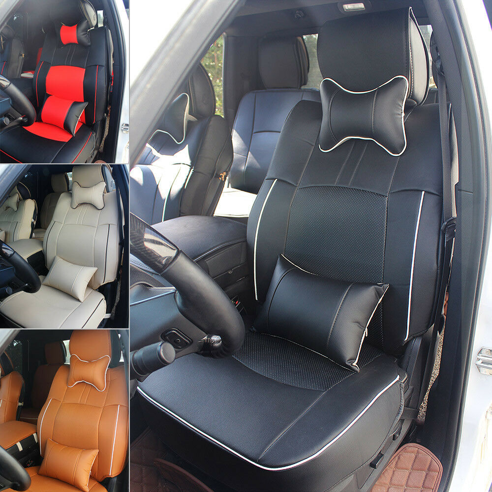 Pu Leather Seat Cover W Armrest Pad Fits For 2009 2018