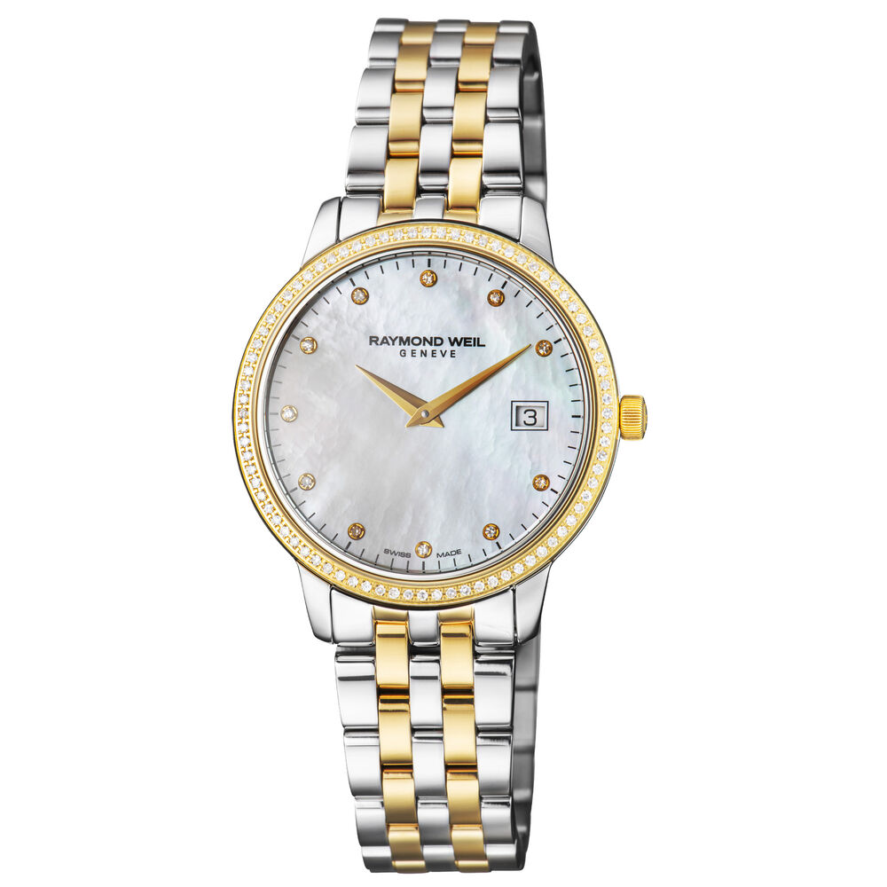 Raymond weil toccata mother of pearl stainless steel ladies watch 5388sps97081 7611784038856 ebay for Raymond watches