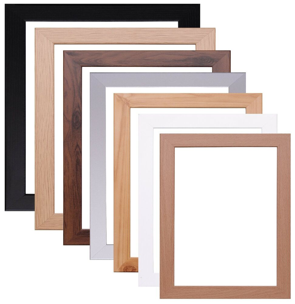 Wood poster frame 2 inch margin