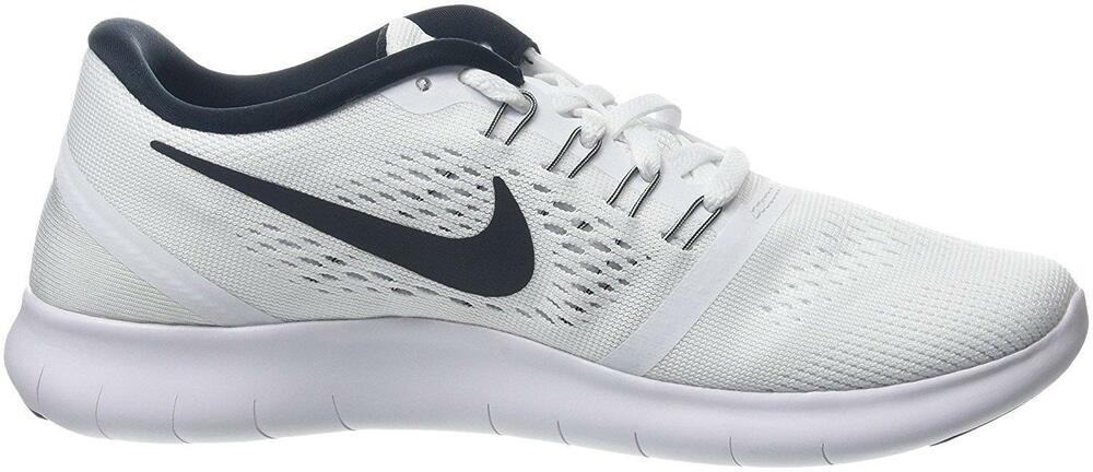 fd1ed691770 Details about Womens NIKE FREE White Running Trainers 831509 100