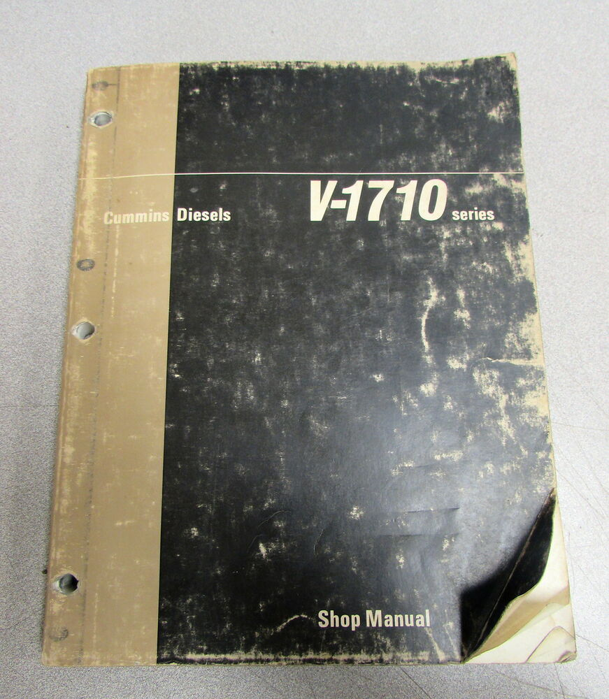 Cummins V-1710 Series Engine Shop Service Repair Manual 983694-OE 1970 |  eBay