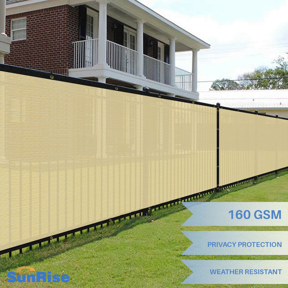 Customize 8 Ft Beige Privacy Screen Fence Windscreen