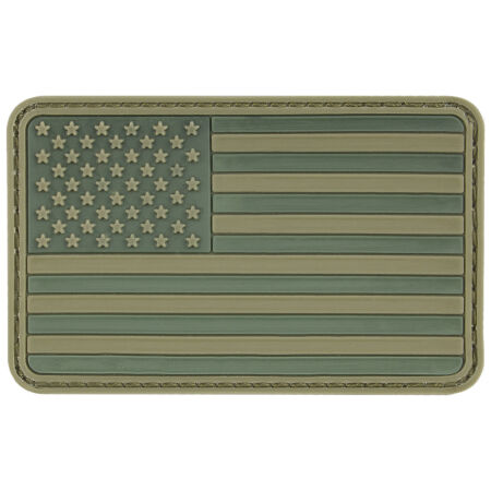 img-MFH USA 3D PVC Morale Patch Rubber Army Badge Military Airsoft Paintball Olive