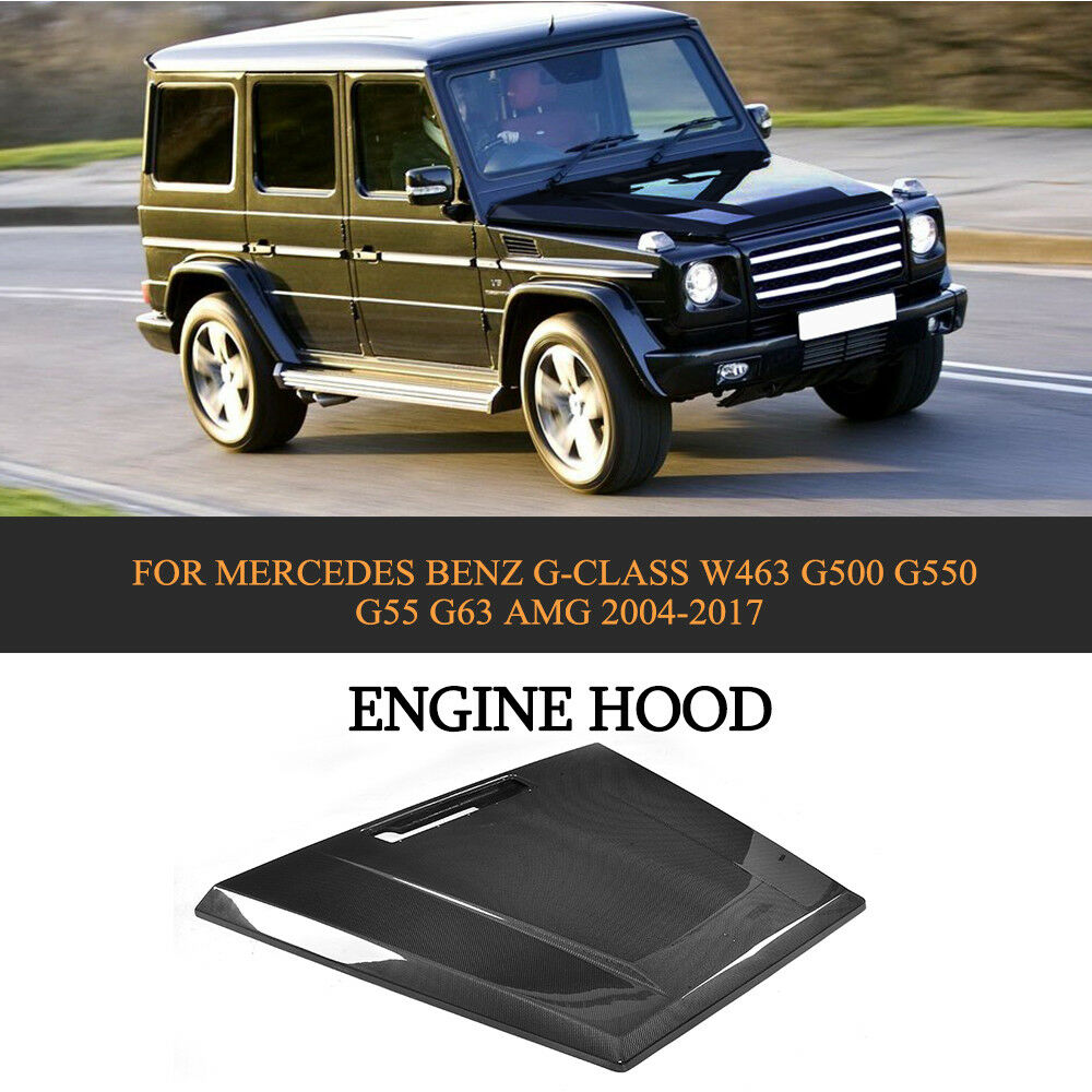 engine hood cover carbon fit for mercedes benz g500 w463 g550 g55