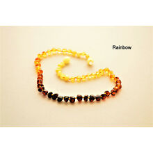 5 SIZES 11 COLORS Genuine Natural Baltic Amber Baby Necklace BQ Polished Beads