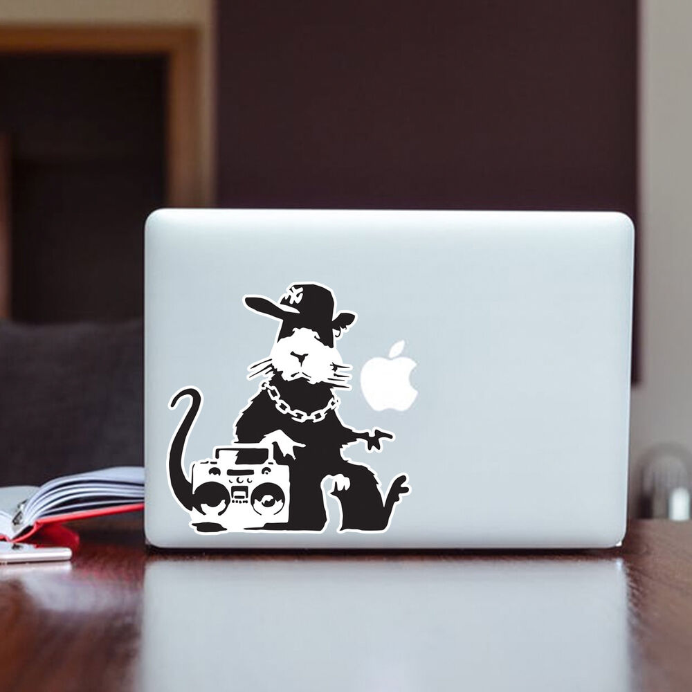 Details about banksy rat ghetto graffiti wall art design vinyl sticker laptop decal window