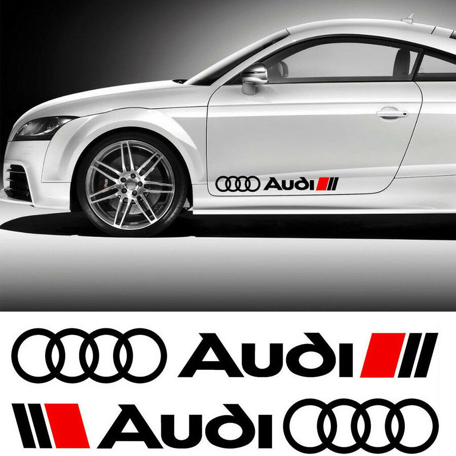 Details about audi s line ring style sticker text logo vinyl decal body car moto bike quattro