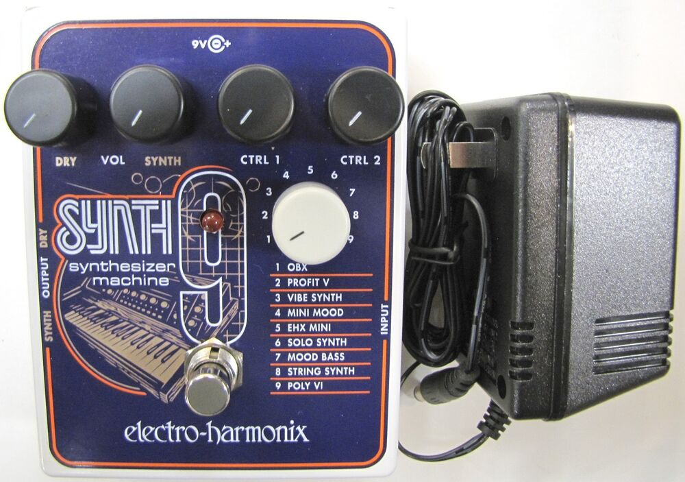 used electro harmonix ehx synth9 synthesizer machine guitar pedal synth 9 ebay. Black Bedroom Furniture Sets. Home Design Ideas