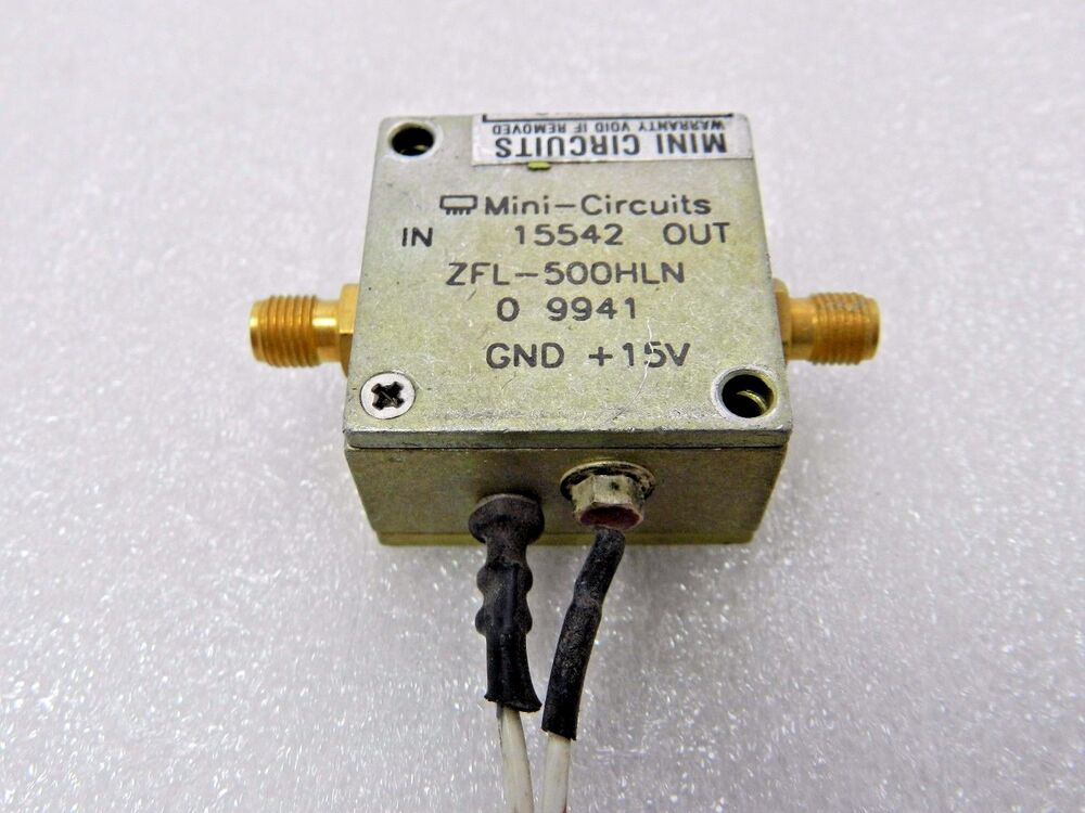 mini circuits zfl 500 hln rf amplifier frequency ebay. Black Bedroom Furniture Sets. Home Design Ideas