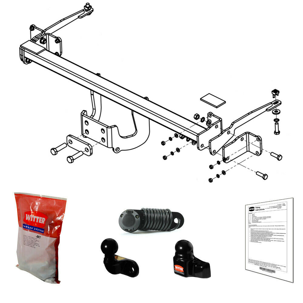 Witter Towbar For Ford Tourneo Connect 2013 Onwards 4 Hole Flange Wiring Instructions Tow Bar