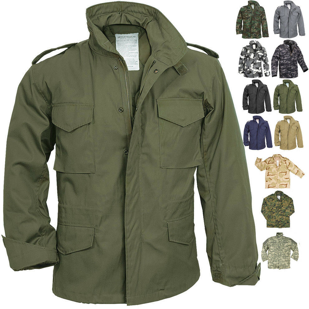Camo Military M-65 Field Coat Camouflage Army M65 Tactical Uniform Jacket  M1965  0c5a50d29b0