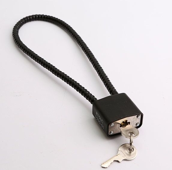 WIRE CABLE TRIGGER MECHANISM padlock LOCK is cord chain security 4 ...