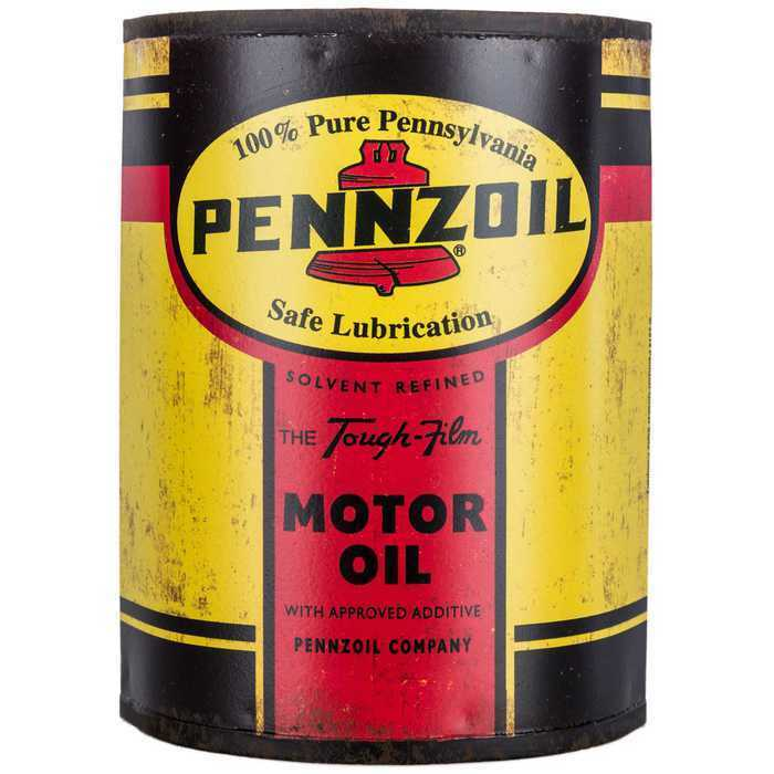 Pennzoil Metal Half Oil Can -Metal Sign wall Decor. Accent garage ...