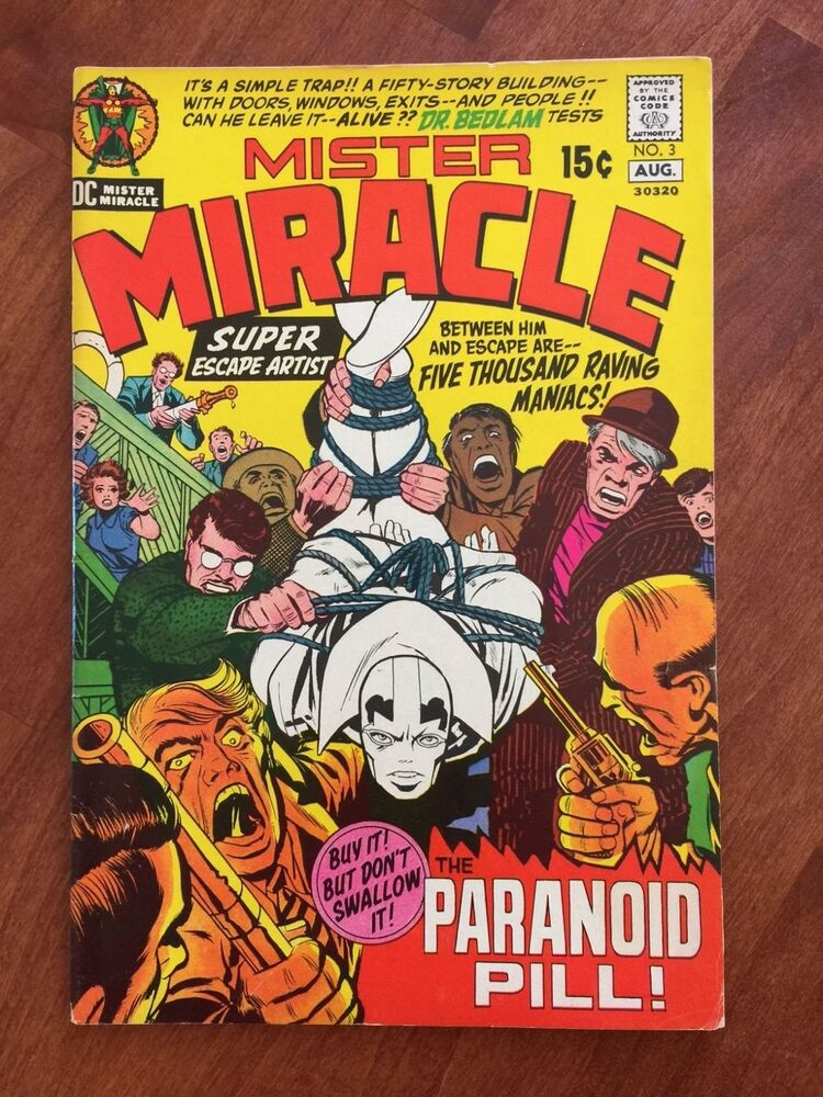 DC Comics MISTER MIRACLE Issue #3 1971 - JACK KIRBY STORY AND ART !   eBay