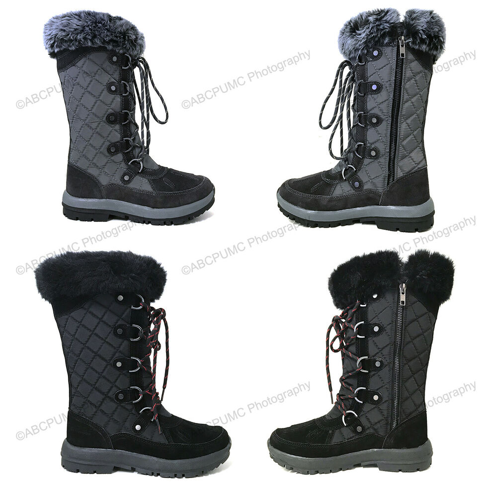 Details about Womens Winter Boots Waterproof Suede Leather Fur Warm  Insulated Zipper Snow Shoe f1c5da2264