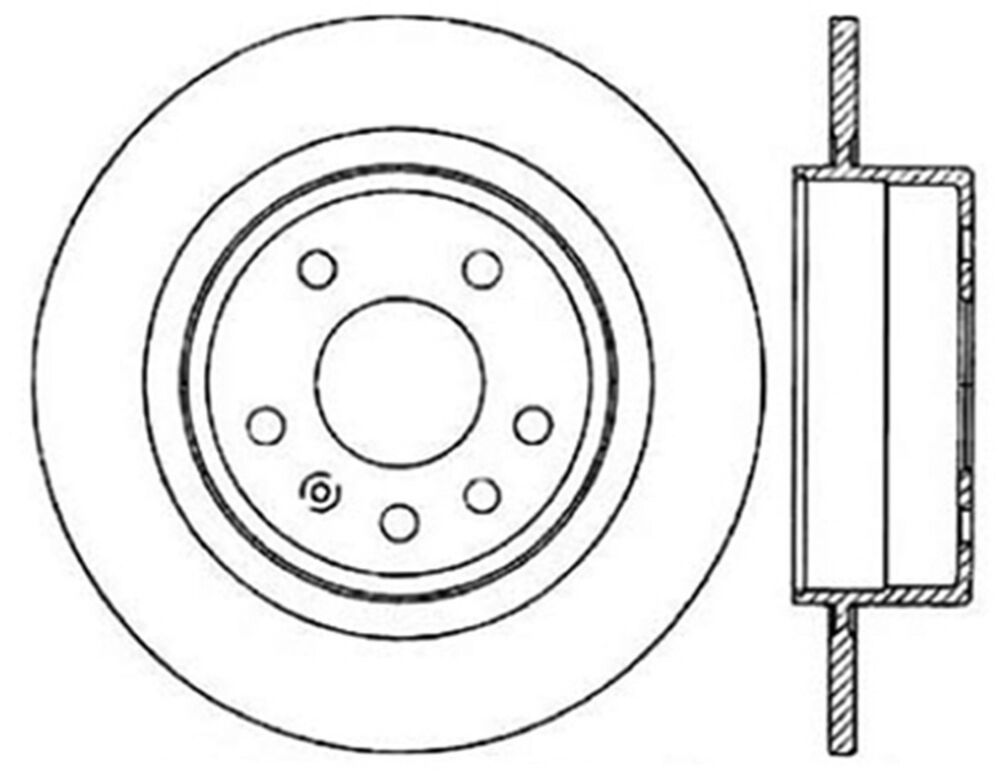 Disc Brake Rotor C Tek Standard Rear Centric 121 38013 Fits 99 10