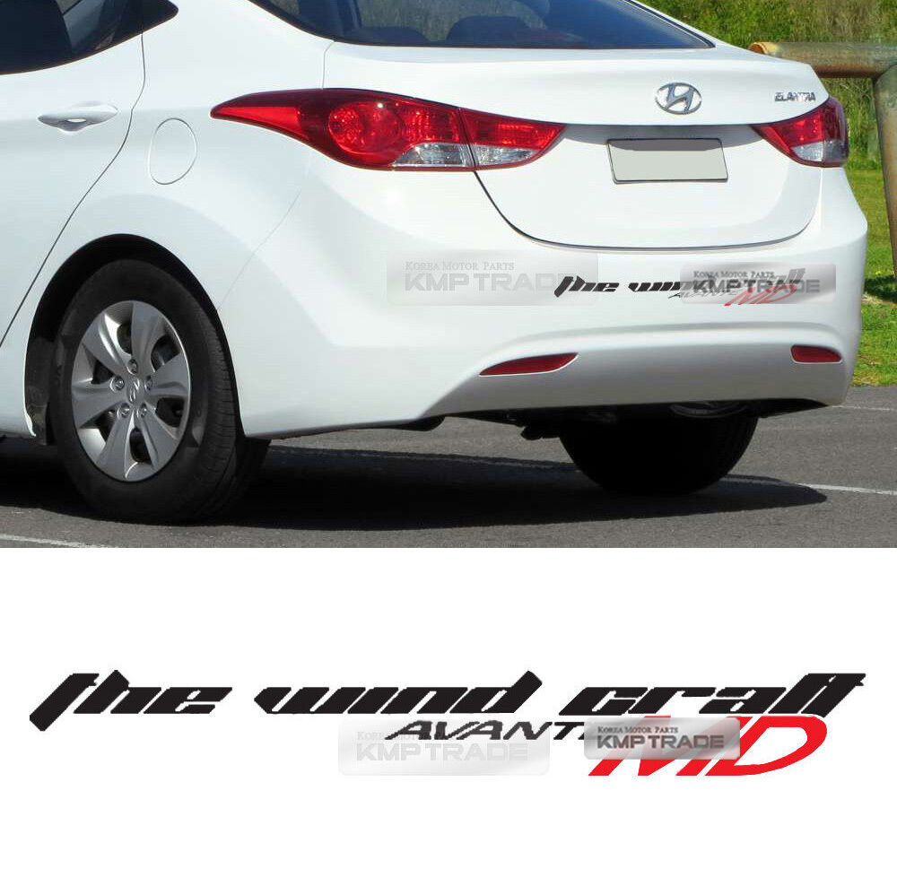 Details about slogan material decal sticker 6 colors for hyundai 11 13 elantra md avante md