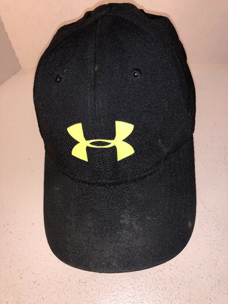 912d1fea6a6 Youth Under Armour Boys Stretch Fit Cap Black Hat S M