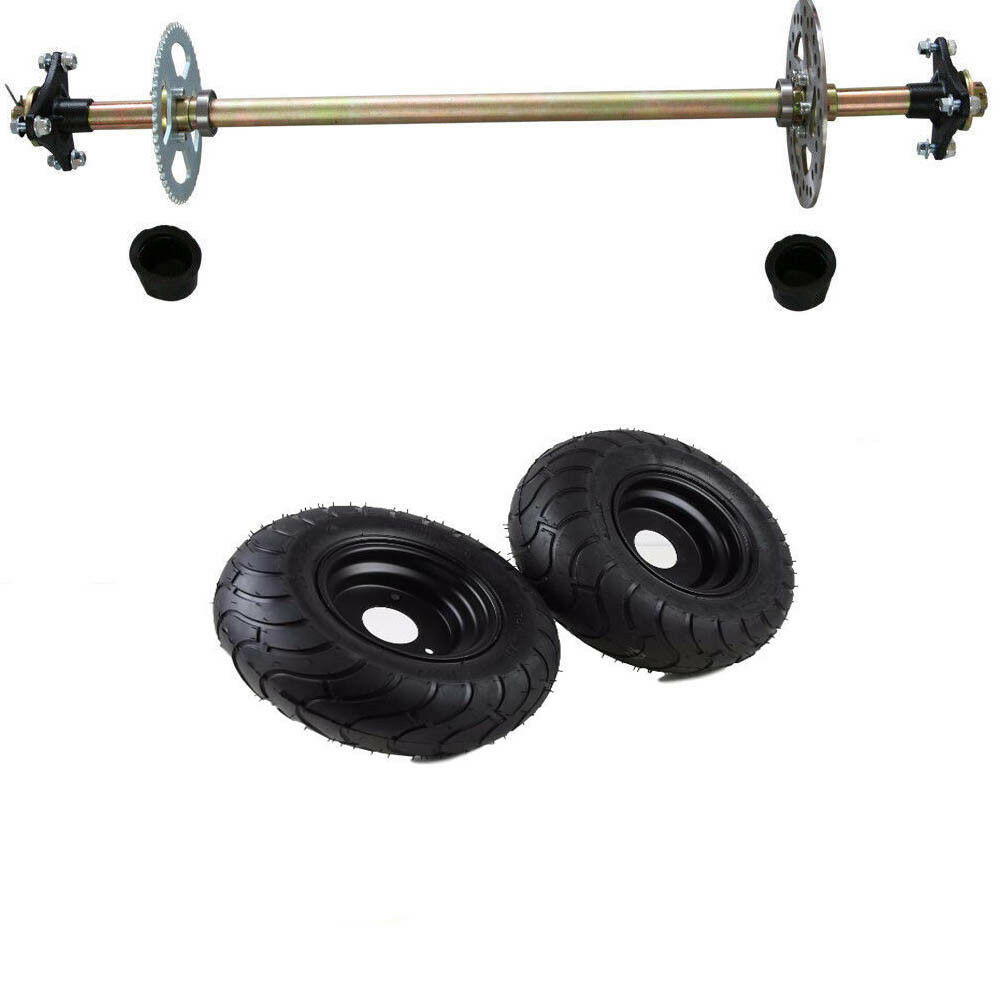 Go Cart Axles With Hubs : Go kart rear axle assembly kit quot wheels hubs for mini