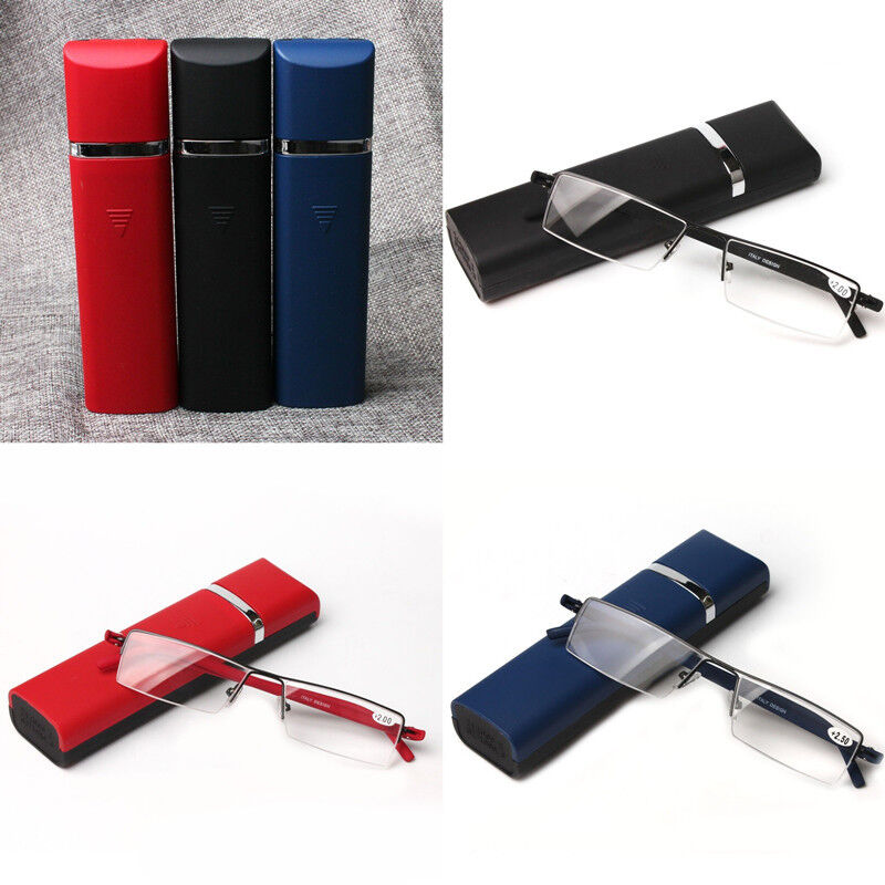 523ae2ea4562 Details about Unfolded Half frame Design Mens Womens Reading Glasses Case  Box +1.00 to+2.50