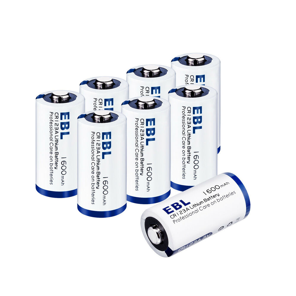 8pack Ebl Cr123a 3v Lithium Non Rechargeable Batteries For