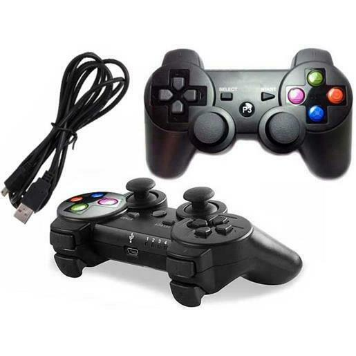 JOYSTICK joypad controller COMPATIBILE PS3 e PC CON FILO USB WIRED + VIBRAZIONE
