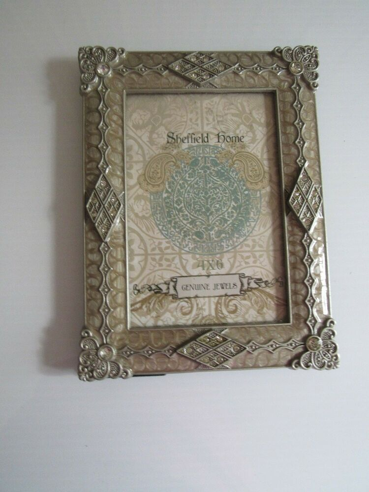 New Jeweled 4x6 Picture Frame By Sheffield Home Taupe Color Ebay