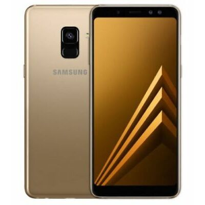 "New Imported Samsung Galaxy A8 Plus Duos 64gb 6gb 6"" Dual Selfie (16mp+8mp) Gold"