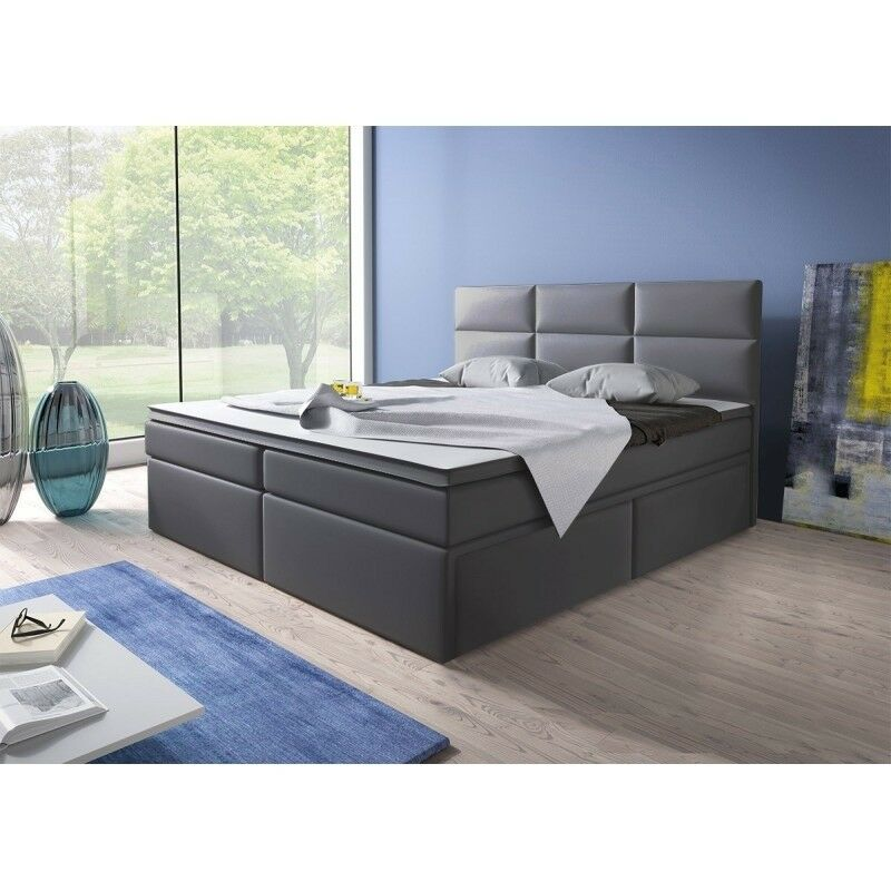 boxspringbett doppelbett hotelbett amsterdam180x200 cm mit schubladen schwarz 4251501821465 ebay. Black Bedroom Furniture Sets. Home Design Ideas