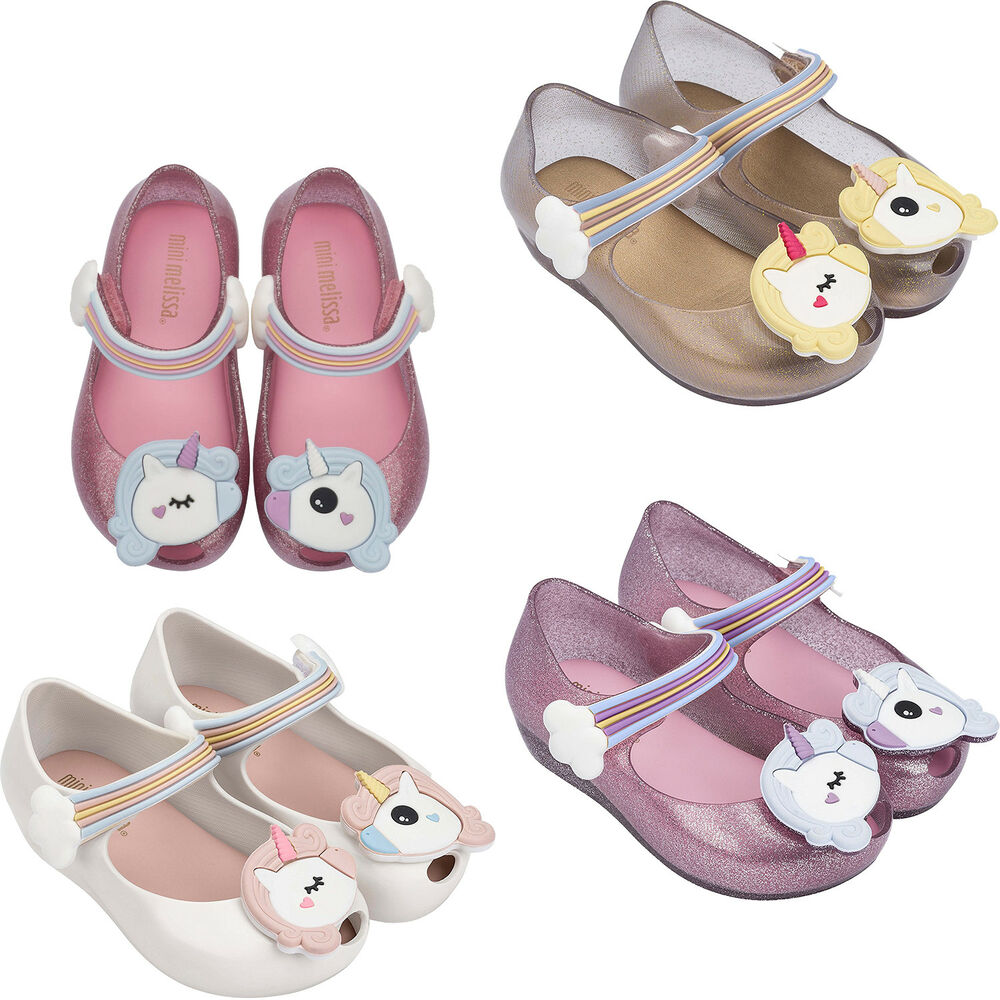 Details about Baby Girl Shoes My Little Pony Theme Mini Melissa Ultragirl  Unicorn Balerinas e17e5e06f