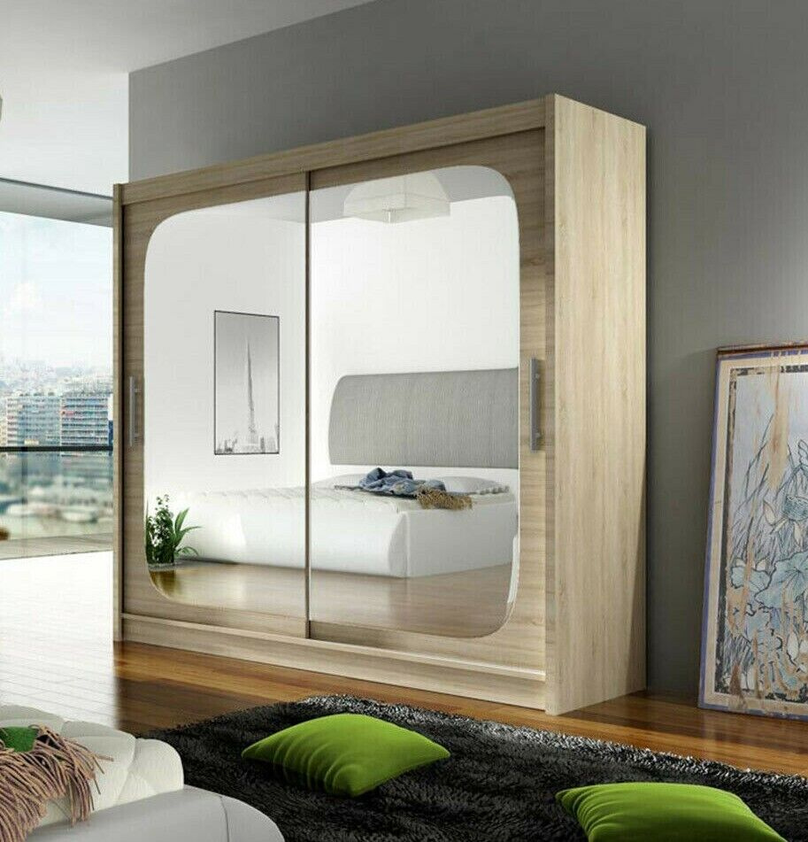 kleiderschrank schrank mit spiegel schwebet renschrank baldwin viii farbauswahl ebay. Black Bedroom Furniture Sets. Home Design Ideas