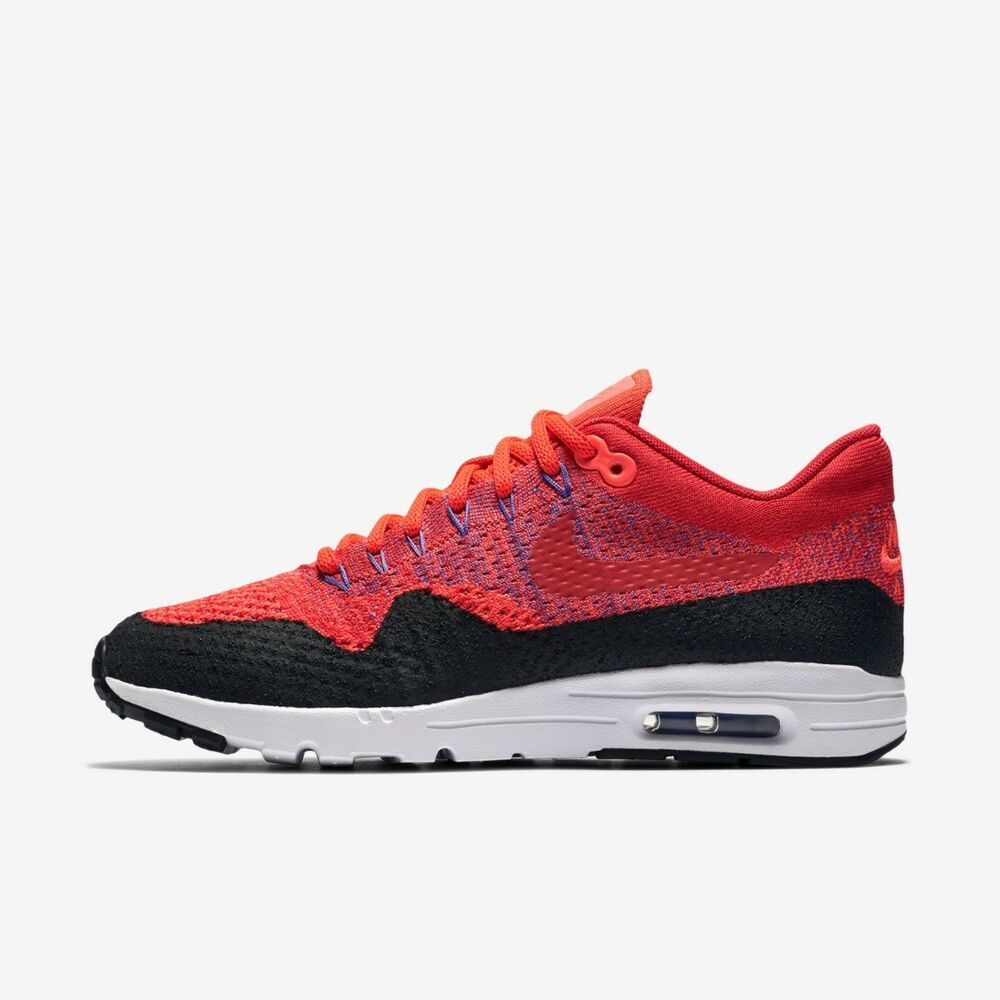 3af18db68dc10 Details about NIKE WOMENS AIR MAX 1 FLYKNIT UK SIZE 3.5 - 5 RUNNING TRAINER  SHOE NEW RED RUN