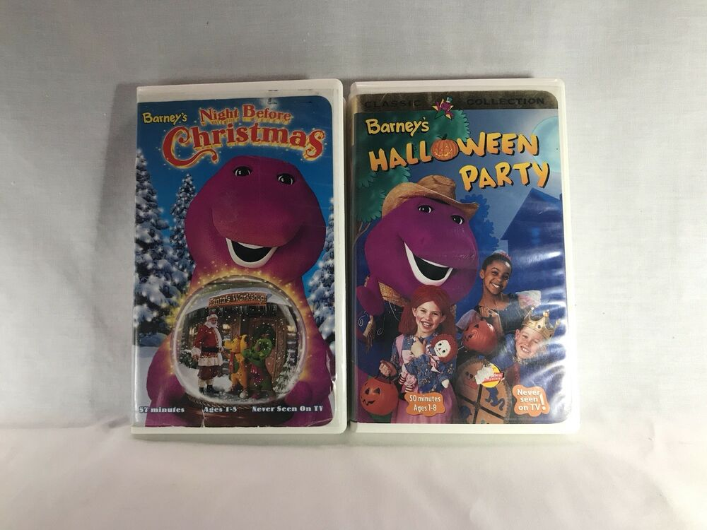 Lot of Barney Holiday VHS - Halloween Party, Night Before Christmas ...
