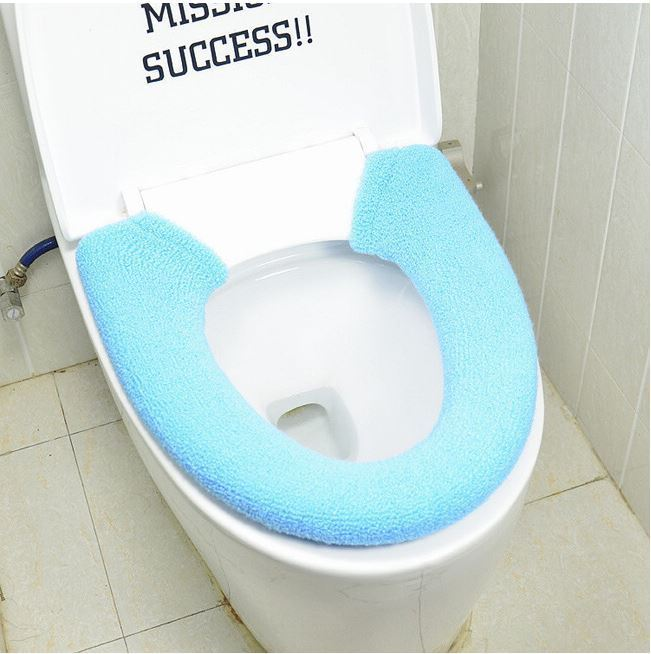 Soft Warm Toilet Seat Cover Round Elongated Padded