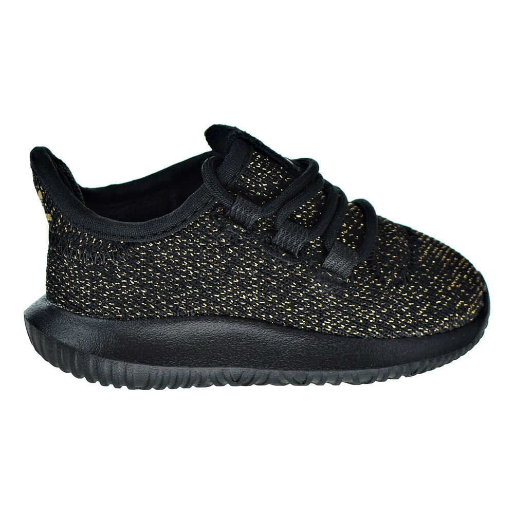 more photos 9f99f 23428 Details about Adidas Tubular Shadow Toddlers  Shoes Core Black   Gold  Glitter AC8428