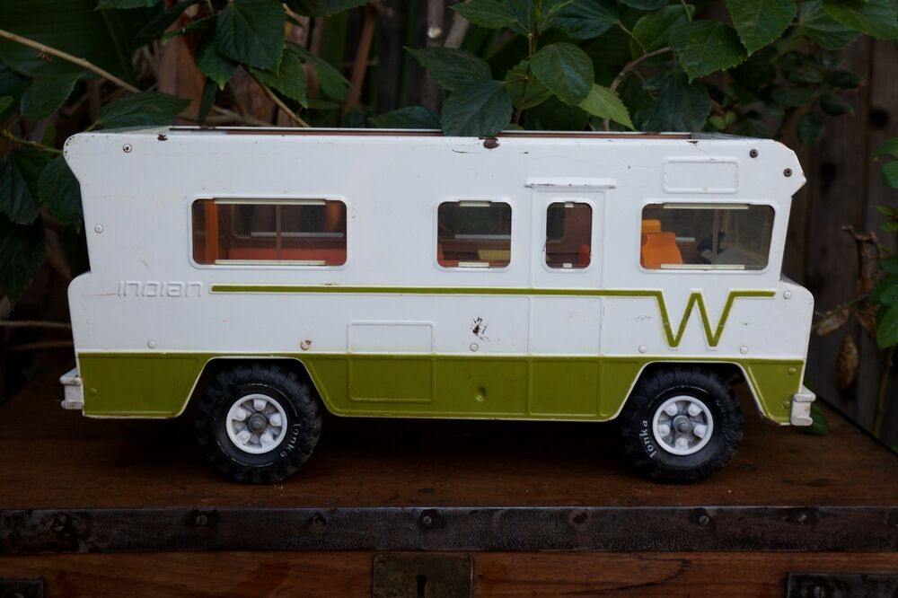Vintage Tonka Winnebago Indian Motorhome 1970s Camper RV Toy Truck Pressed Steel