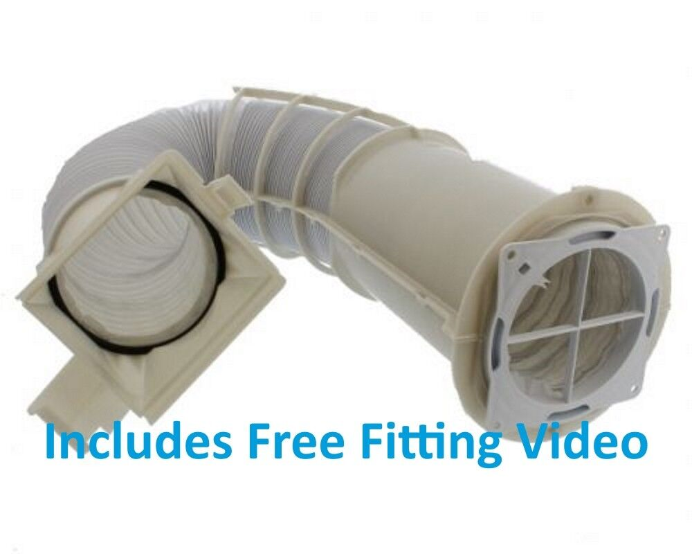 WHITE KNIGHT 447WV 44AS 44AW 44AWL Extendable Vent Hose Kit - 2m (5.7) +  video | eBay