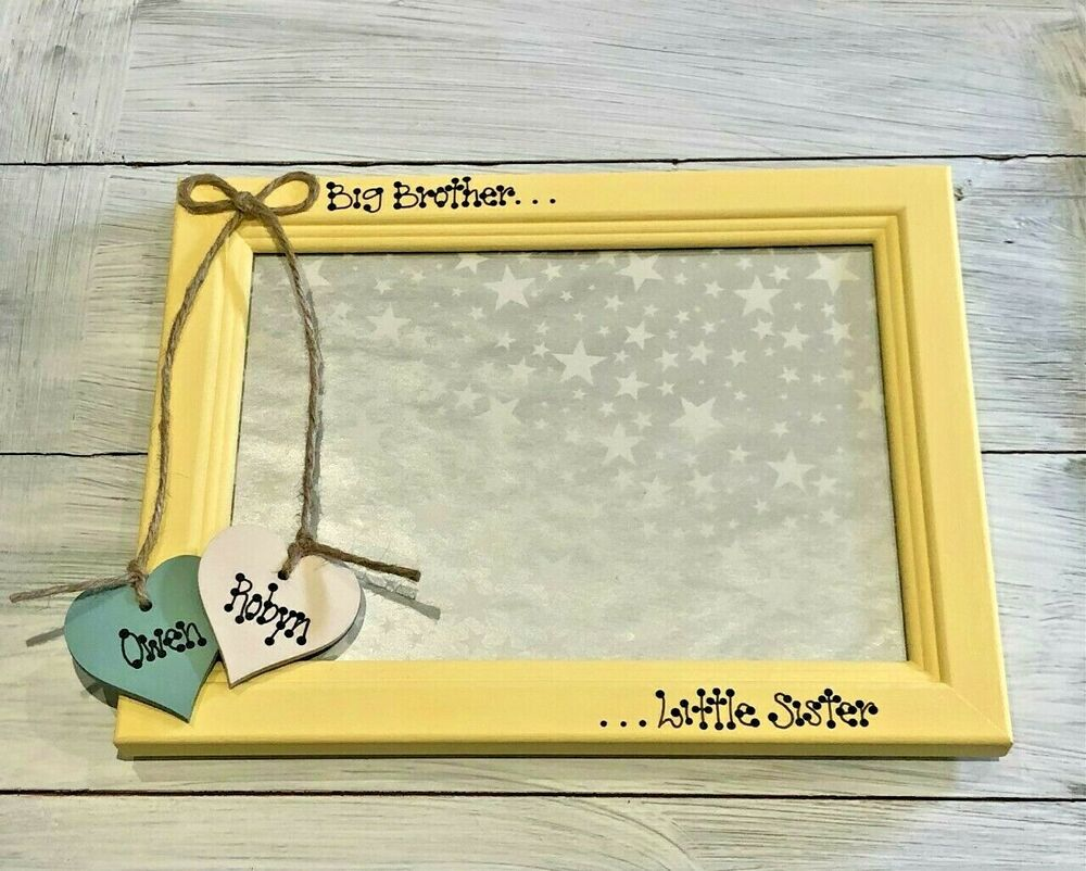 Personalised Big Sister Little Brother Twins Cousins Friends Photo ...