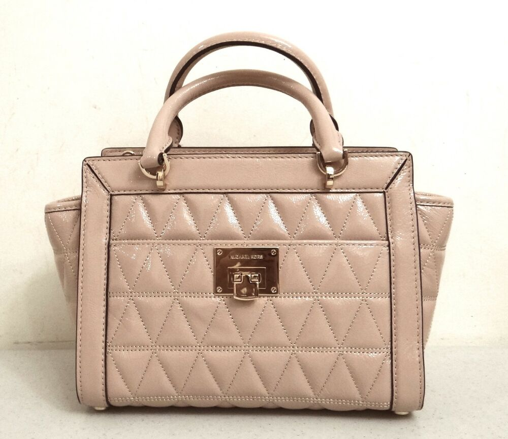 Milchael Michael Kors Vivianne Oyster Patent Leather Small