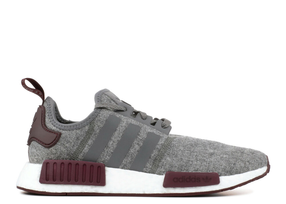 Details about Adidas NMD R1 Grey Wool 3M Maroon Size 13. CQ0761 yeezy ultra  boost pk 727483bd2ccd