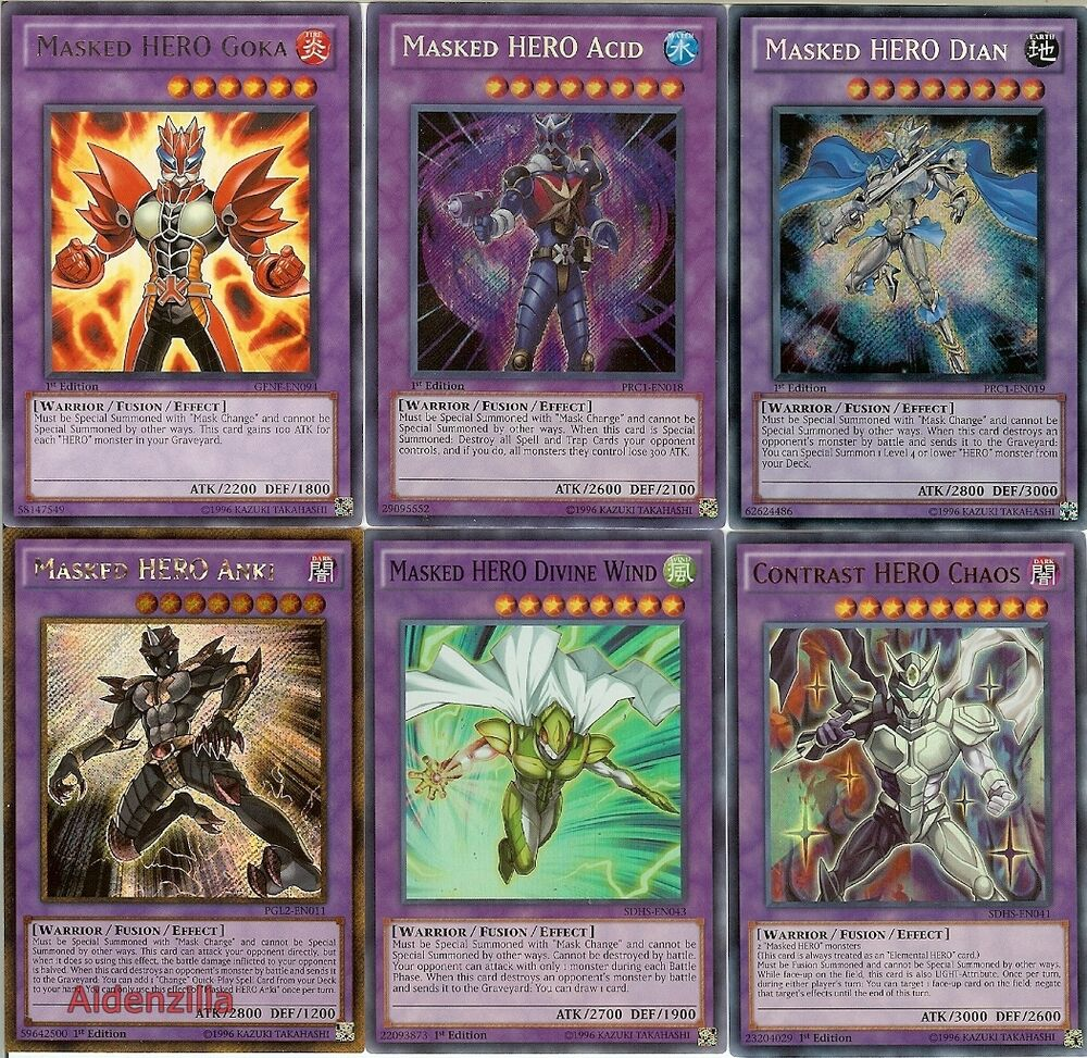 Elemental Hero Cards: Yugioh Masked Elemental Hero Deck