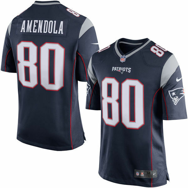 6f97ac26d Details about New England Patriots Youth Danny Amendola  80 Nike Navy Game  Jersey - Blue