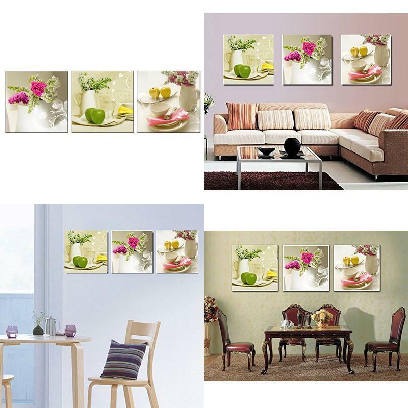 [Framed] White Floral In Dining Room Canvas Wall Art
