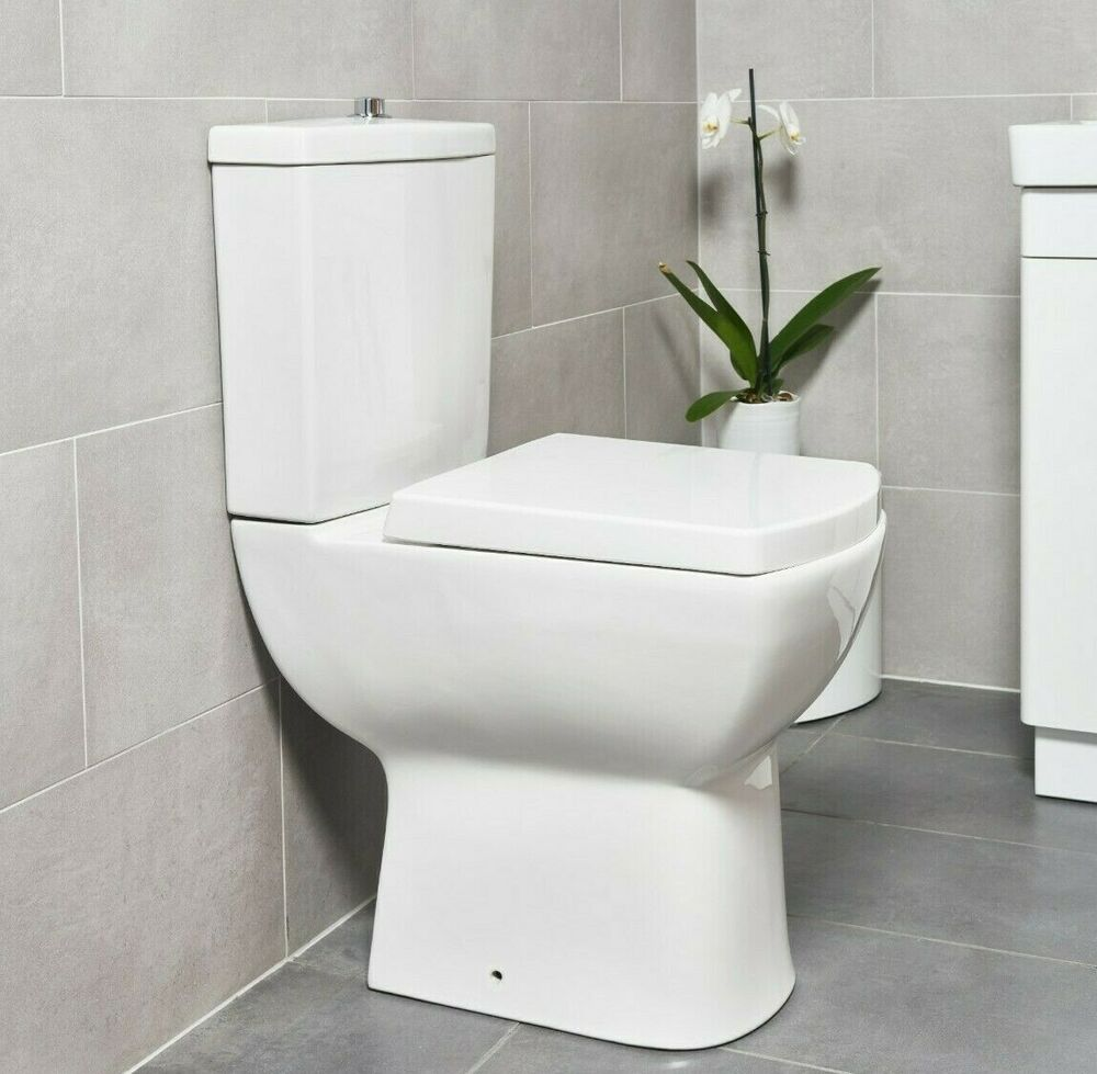 Comfort Height Square High Level Wc Pan Cistern Toilet